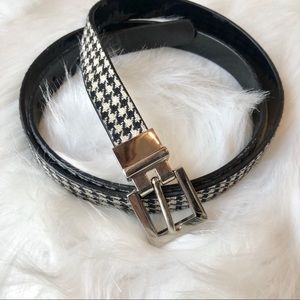 ⚡️Herringbone & Black Patent Reversible Belt